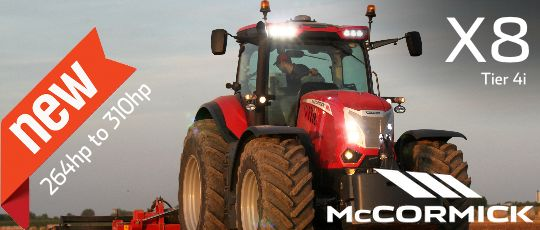 Demonstration McCormick X8 Tractor coming soon to Agriplus Ltd, North Yorkshire