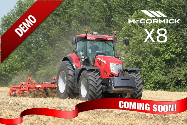Demonstration McCormick X8 Tractor coming soon